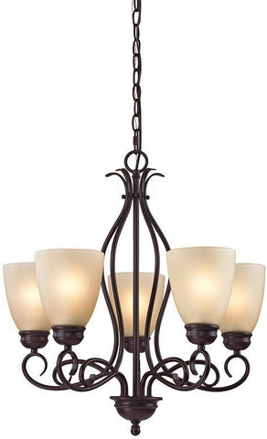 Cornerstone 1105CH/10 Chatham 5 Light Chandelier In Oil Rubbed Bronze - PeazzLighting