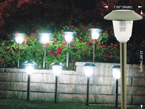 HomeBrite Olympus 30848 Stainless Steel Solar Path Lights 8 Pack - PeazzLighting