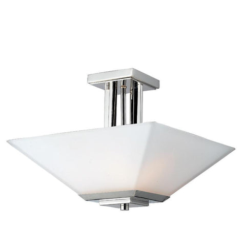 Z Lite Affinia Collection Chrome Finish Three Light Semi-Flush Mount - ZLiteStore