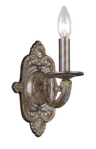 Crystorama 5111-VB 1-Lights Paris Flea Market Market Collection Natural Wrought Iron Wall Sconce - Venetian Bronze - PeazzLighting