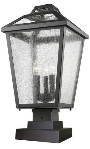 Z-Lite 539PHBS-SQPM-BK 3 Light Outdoor Pier Mount Light - ZLiteStore