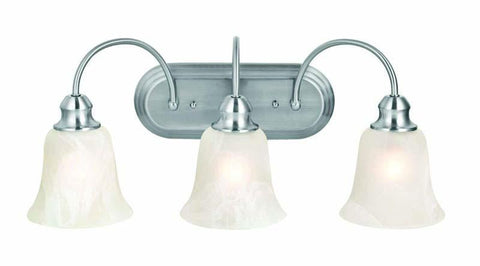 Design House 519462 Ridgeway 3Lt Vanity Light Satin Nickel - PeazzLighting