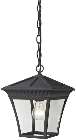 Cornerstone 8411EH/65 Ridgewood Pendant Lantern In Matte Textured Black - PeazzLighting
