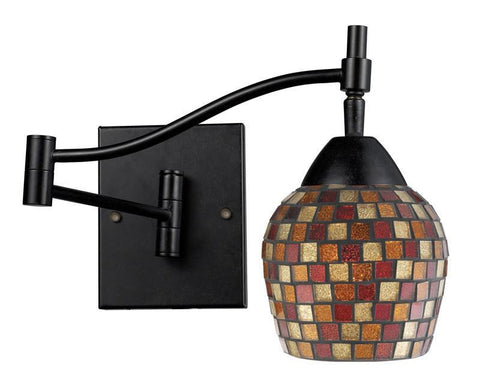 ELK Lighting Celina Celina 1-Light Swingarm Sconce In Dark Rust And Mountain Glass - 10151/1DR-MLT - PeazzLighting