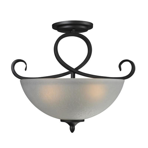 Z-Lite 603SF Arshe Collection Café Bronze Finish 3 Light Semi-Flush Mount - ZLiteStore