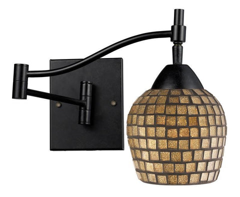 ELK Lighting Celina Celina 1-Light Swingarm Sconce In Dark Rust And Gold Leaf - 10151/1DR-GLD - PeazzLighting