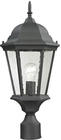 Cornerstone 8101EP/65 Temple Hill Pendant Lantern In Matte Textured Black - PeazzLighting