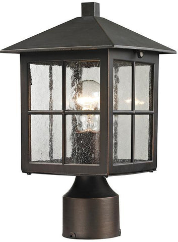 Cornerstone 8201EP/70 Shaker Heights Post Lantern In Hazelnut Bronze - PeazzLighting