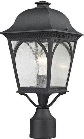 Cornerstone 8301EP/65 Cape Ann 1 Light Outdoor Pendant Lantern In Matte Textured Black - PeazzLighting