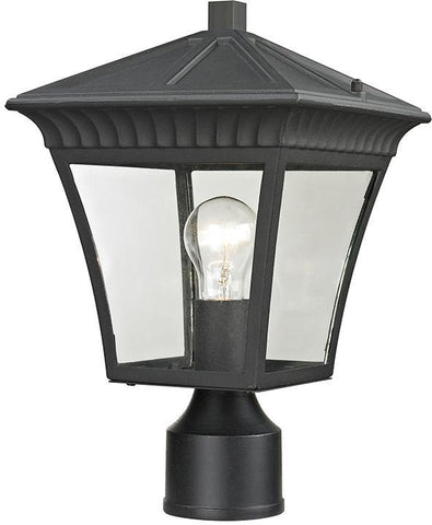 Cornerstone 8411EP/65 Ridgewood Post Lantern In Matte Textured Black - PeazzLighting