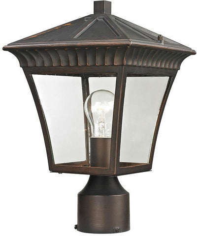 Cornerstone 8411EP/70 Ridgewood Post Lantern In Hazelnut Bronze - PeazzLighting