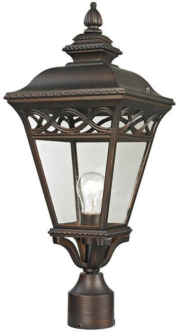Cornerstone 8511EP/70 Mendham 1 Light Exterior Post Lantern In Hazelnut Bronze - PeazzLighting