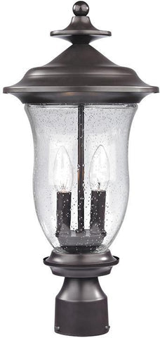 Cornerstone 8002EP/75 Trinity Post Lantern In Oil Rubbed Bronze - PeazzLighting