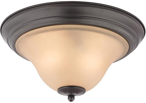 Cornerstone 1402FM/10 Kingston 2 Light Flush Mount  In Oil Rubbed Bronze - PeazzLighting