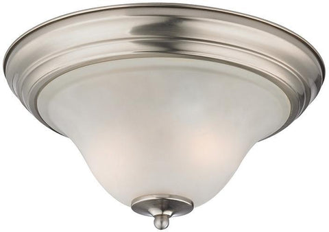 Cornerstone 1402FM/20 Kingston 2 Light Flush Mount  In Brushed Nickel - PeazzLighting