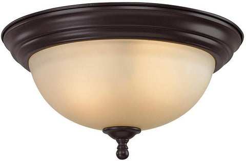 Cornerstone 1103FM/10 Chatham 3 Light Flush Mount In Oil Rubbed Bronze - PeazzLighting