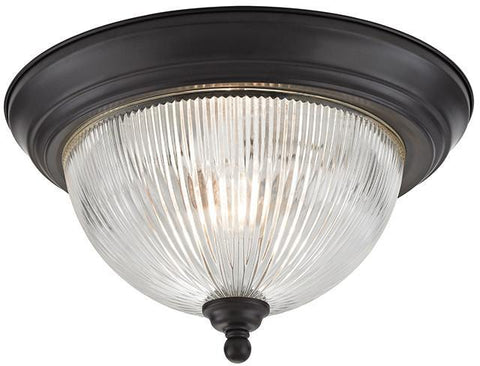 Cornerstone 7672FM/10 Liberty Park 2 Light Flush Mount In Oil Rubbed Bronze - PeazzLighting