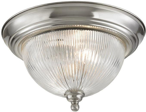 Cornerstone 7672FM/20 Liberty Park 2 Light Flush Mount In Brushed Nickel - PeazzLighting