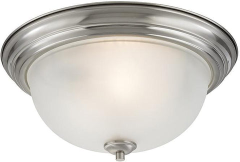 Cornerstone 2103FM/20 Bristol Lane 3 Light Flush Mount In Brushed Nickel - PeazzLighting