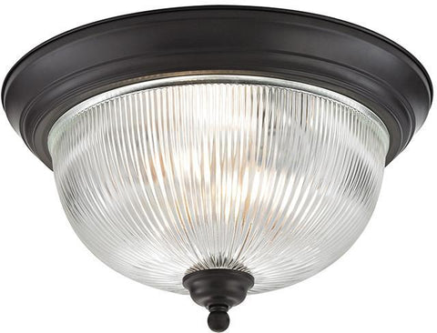 Cornerstone 7683FM/10 Liberty Park 3 Light Flush Mount In Oil Rubbed Bronze - PeazzLighting
