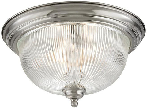 Cornerstone 7683FM/20 Liberty Park 3 Light Flush Mount In Brushed Nickel - PeazzLighting