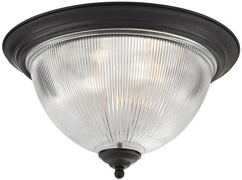 Cornerstone 7693FM/10 Liberty Park 3 Light Flush Mount In Oil Rubbed Bronze - PeazzLighting