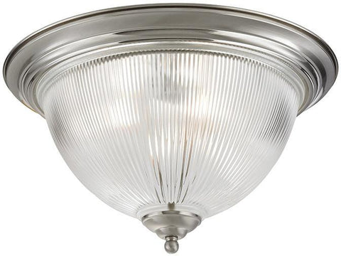 Cornerstone 7693FM/20 Liberty Park 3 Light Flush Mount In Brushed Nickel - PeazzLighting