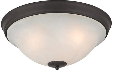 Cornerstone 2303FM/10 Hamilton 3 Light Flush Mount In Oil Rubbed Bronze - PeazzLighting