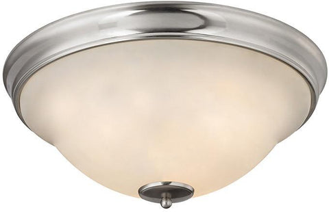 Cornerstone 2303FM/20 Hamilton 3 Light Flush Mount In Brushed Nickel - PeazzLighting