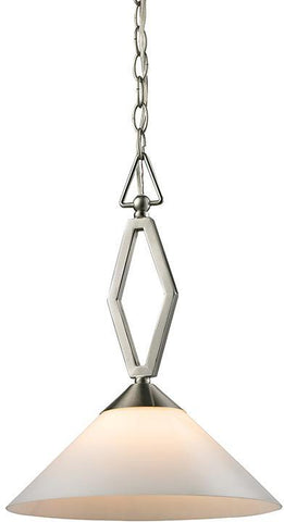 Cornerstone 2401PL/20 Tribecca 1 Light Pendant Large In Brushed Nickel - PeazzLighting