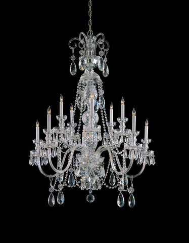 Crystorama Swarovski Elements Crystal Chandelier 5 Lights - Polished Chrome - 5020-CH-CL-S - PeazzLighting