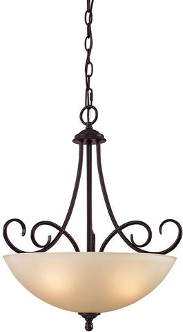 Cornerstone 1103PL/10 Chatham 3 Light Large Pendant In Oil Rubbed Bronze - PeazzLighting