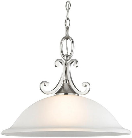 Cornerstone 2301PL/20 Hamilton 1 Light Pendant In Brushed Nickel - PeazzLighting
