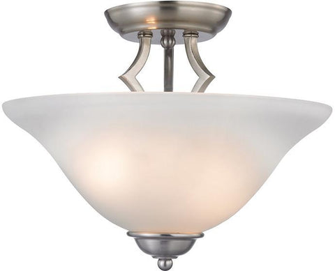 Cornerstone 1402SF/20 Kingston 2 Light Semi-Flush In Brushed Nickel - PeazzLighting