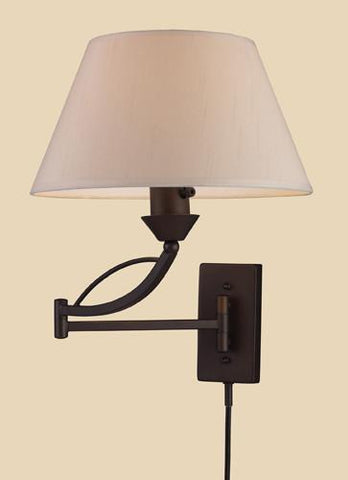 ELK Lighting 17026-1 Elysburg One Light Swingarm Sconce In Aged Bronze - PeazzLighting