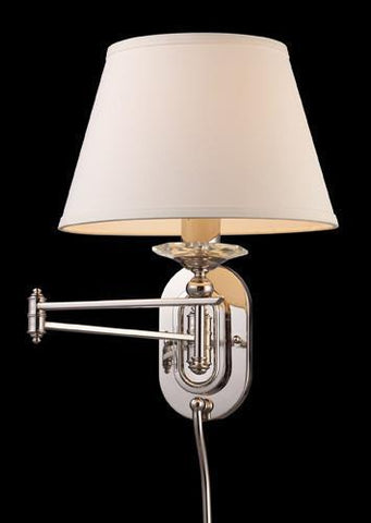 ELK Lighting 11209-1 Swingarm One Light Sconce In Polished Nickel - PeazzLighting