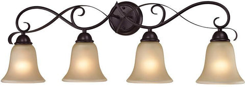 Cornerstone 1004BB/10 Brighton 4 Light Bath Bar In Oil Rubbed Bronze - PeazzLighting