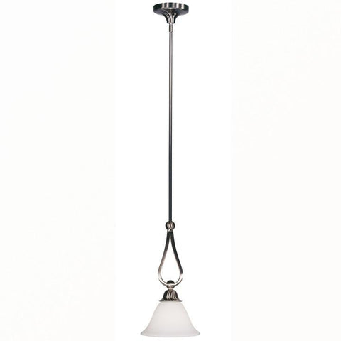 Z-Lite Carlisle Collection Brushed Nickel Finish One Light Mini Pendant - ZLiteStore