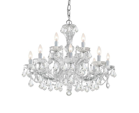 Crystorama 4479-CH-CL-MWP 8-Lights Maria Theresa Chandelier Draped In Hand Cut Crystal - Polished Chrome - PeazzLighting