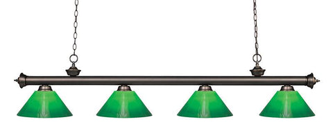 Z-Lite 200-4OB-GCG14 4 Light Billiard Light - ZLiteStore