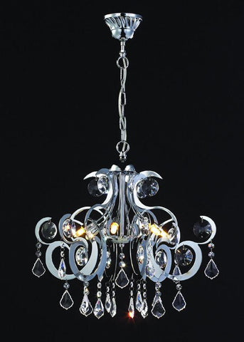 Z-Lite Parisian Crystal Chand. Collection Chrome Finish Six Lights Crystal Chandelier - ZLiteStore