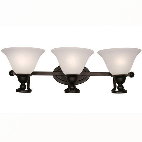 Z-Lite Carlisle Collection Bronze Finish Three Light Wall Sconce - ZLiteStore