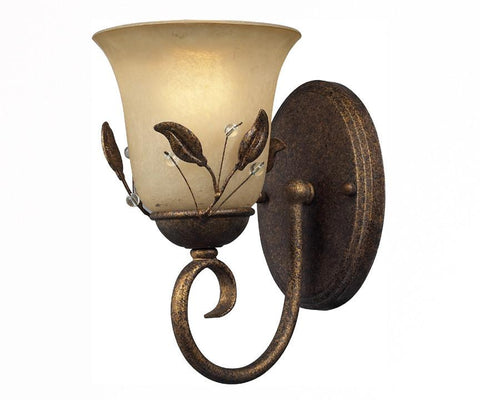 Z-Lite Coventry Collection Antique Gold Finish One Light Wall Sconce - ZLiteStore