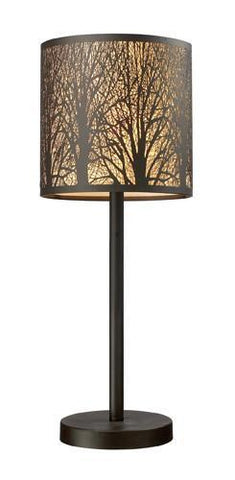 ELK Lighting 31072-1 Woodland Sunrise One Light Portable Lamp In Aged Bronze - PeazzLighting