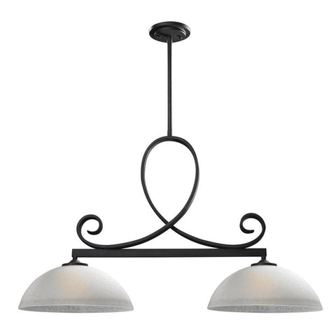 Z-Lite 603-2 Arshe Collection Café Bronze Finish 2 Light Island Light - ZLiteStore