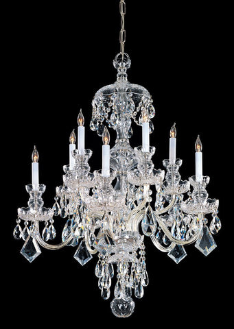Crystorama Hand Cut Crystal Chandelier 5 Lights - Polished Brass - 1140-PB-CL-MWP - PeazzLighting