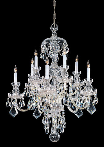 Crystorama Swarovski Elements Crystal Chandelier 5 Lights - Polished Brass - 1140-PB-CL-S - PeazzLighting
