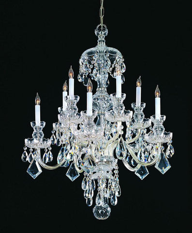 Crystorama Swarovski Elements Crystal Chandelier 5 Lights - Polished Chrome - 1140-CH-CL-S - PeazzLighting