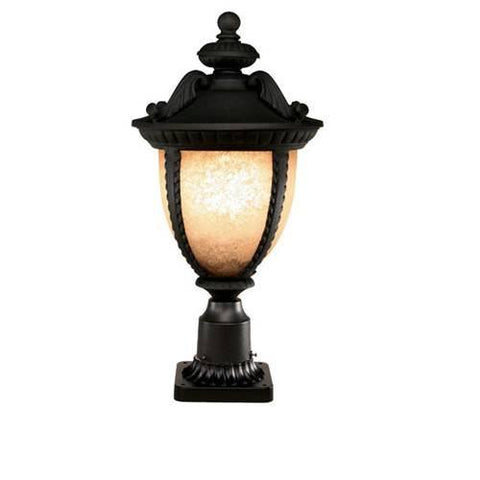Z-Lite Winchester Collection Black Finish Outdoor Post Light - ZLiteStore