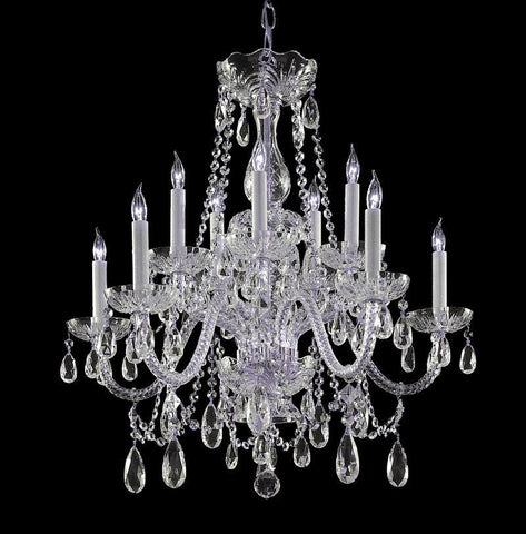 Crystorama Hand Cut Crystal Chandelier 5 Lights - Polished Brass - 1130-CH-CL-MWP - PeazzLighting